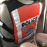 Heimweg mit der Polizei.