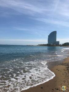 Barcelona Beach: W Hotel.