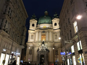 St. Peter Kirche by night.